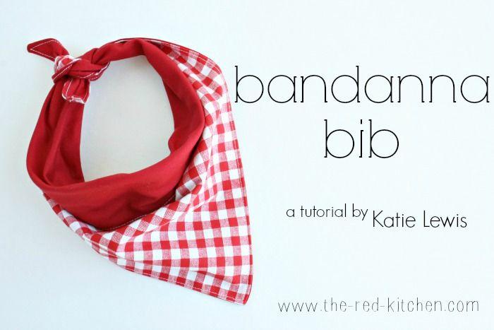 the red kitchen: Bandanna Bib Tutorial