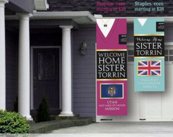 DIGITAL FILE LDS Missionary Welcome Home Banner 8'x by MeckMom