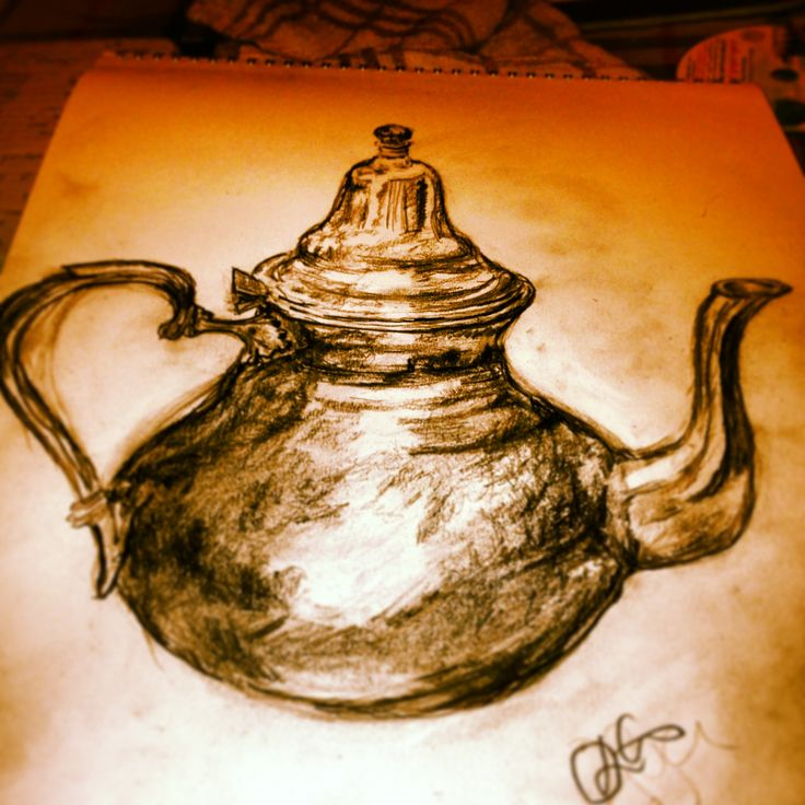 a sketch of my #Moroccan #teapot #sketch #drawing #art
