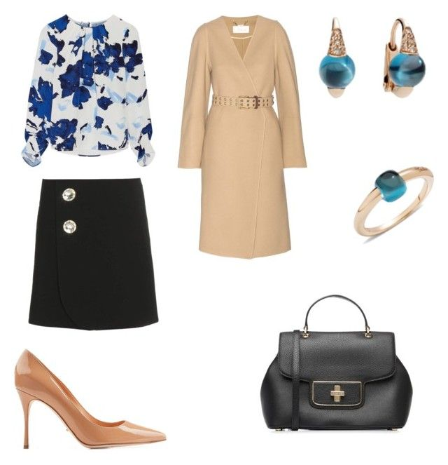 office look by the925editor on Polyvore featuring Oscar de la Renta, Chloé, Marni, Sergio Rossi and MICHAEL Michael Kors
