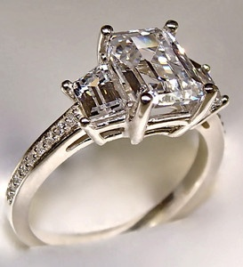 2 78ct Radiant Cut Engagement Ring 14k Solid Gold | eBay