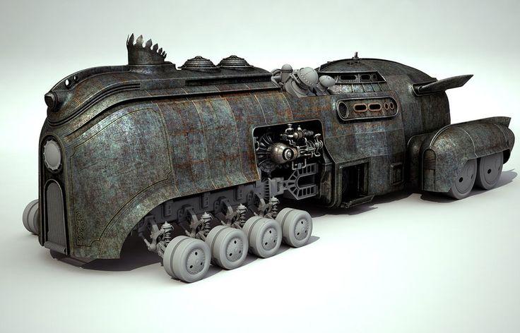 Steamcar #steampunk http://www.pinterest.com/TheHitman14/artwork-steampunked/
