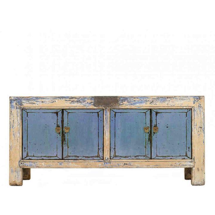 Adesivo Decorativo Portas De Vidro ~ mueble aparador madera lavada turquesa Muebles Pinterest Aparadores, Lavar y Turquesa