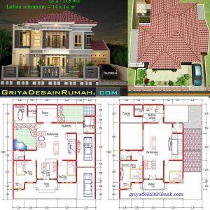 309 Denah Rumah Minimalis Modern 2 Lantai Kolam Renang Denah In