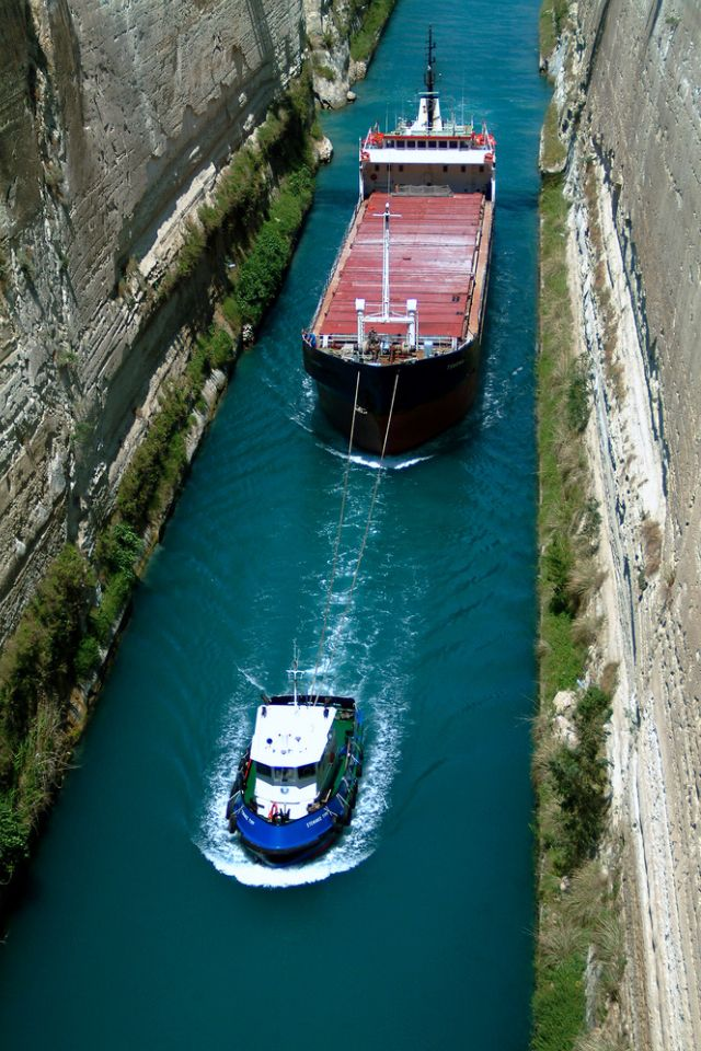 Canal of Corinthos, Greece