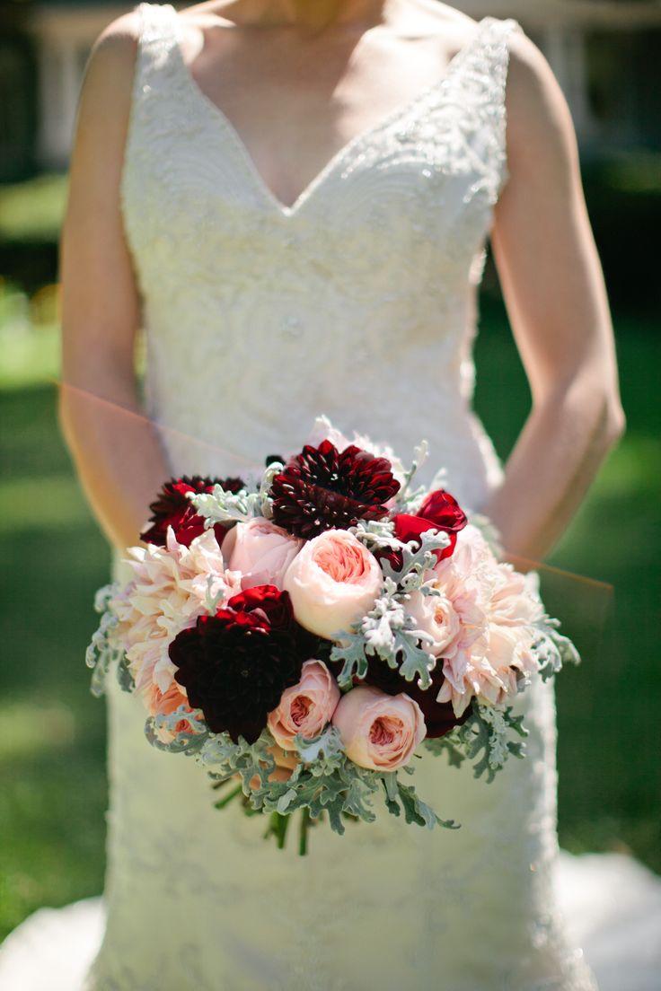 Burgundy+and+Peach+Bridal+Bouquet