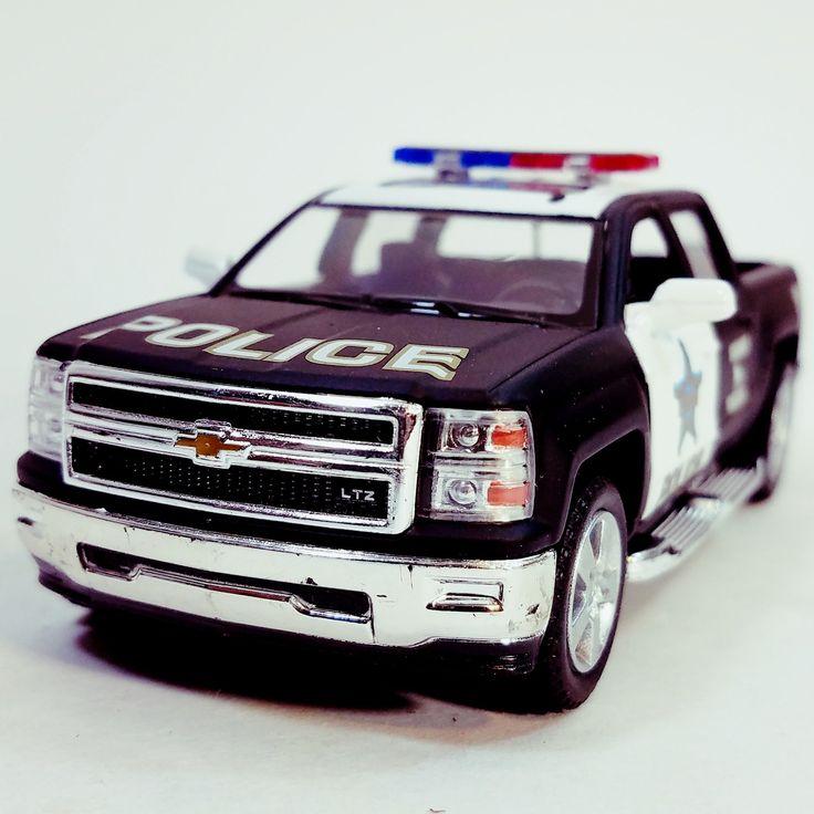Kinsmart 2014 Silverado LAPD Police K-9 Special Unit Pickup SUV 1/46 Scale Di...