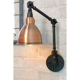 Industrial Two Arm Swing Wall Lamp