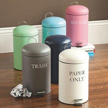Kickstand Trash Can - contemporary - Waste Baskets - PBteen
