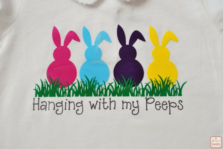 """Hanging with my Peeps"" Vinyl Shirt Tutorial"