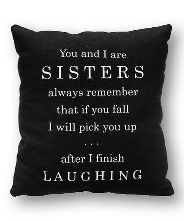 Look at this #zulilyfind! 'You and I' Pillow #zulilyfinds