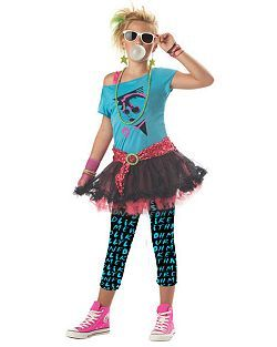 Tweens 80s Valley Girl | Cheap Tween Halloween Costume for Girls