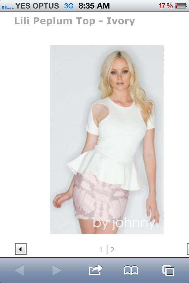 By Johnny. If only this were still available :(Style, Johnny, White Peplum Tops