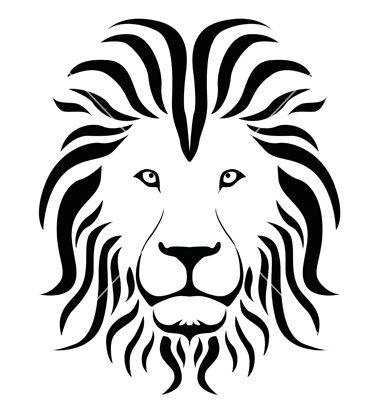 Lion silhouette vector by silverqween - Image #1444656 - VectorStock