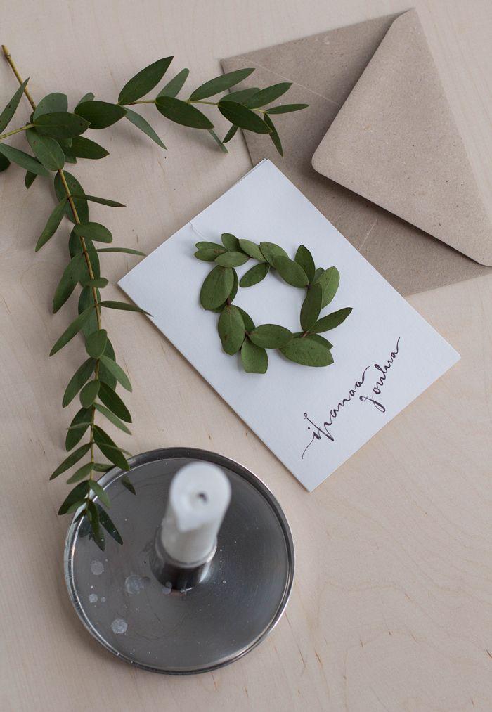 Bambula: DIY | joulukortti tuoksuvalla minikranssilla