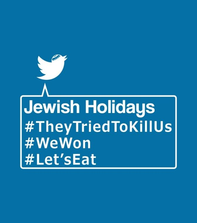Funny Jewish Holiday Hashtags Shirt - OK, now let's admit it - we love this funny Jewish shirt! Make everyone's holiday funnier and more laughter-filled with a cool print that will generate funny comments from all who see it!