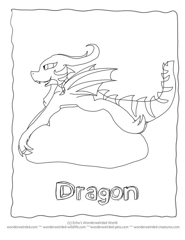 fantasy creatures coloring pages - photo#26
