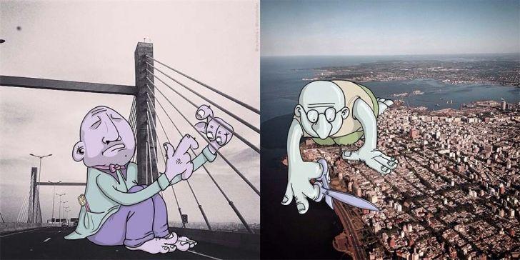 Orjinalleri Üzerine Çizim Yapılan Instagram Fotoğrafları.