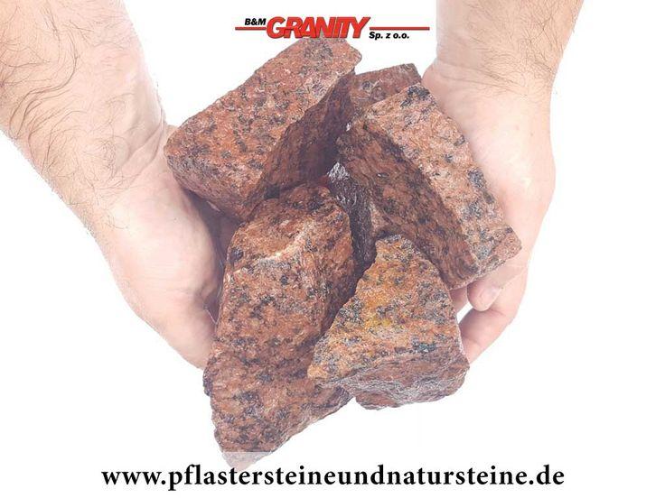 Ziersteine / Eckige Steine aus Granit, Vanga (nass) für Gabionen