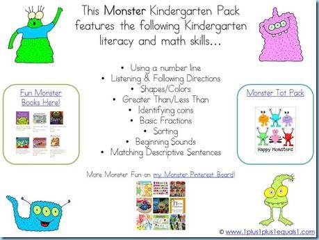 Monsters Kindergarten pack