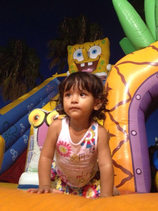 En el parque de diversión