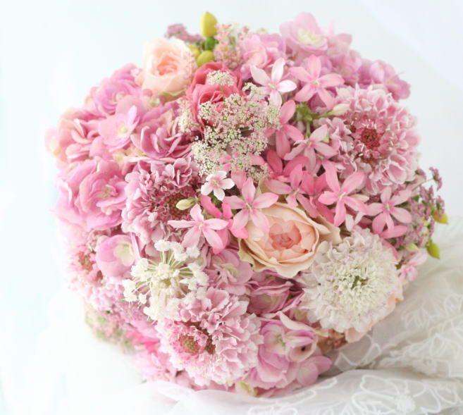 ブーケ クラッチ 夏へのピンク : 一会 ウエディングの花