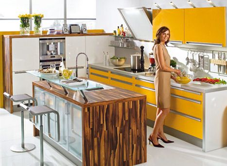 Nolte kitchens Spot are a colourful addition to any home
