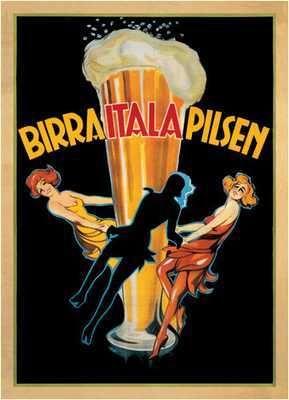 Birra Itala Pilsen; 1920 Cotton Giclee Art Print