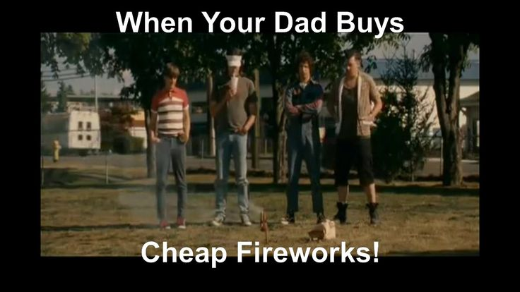 When Dad Buys Cheap Fireworks!