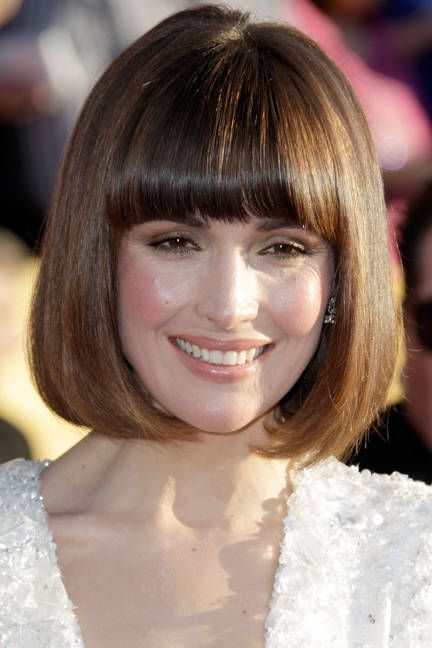 Thick Fringe And Blunt Bob Bob Hairstyles Long Hair