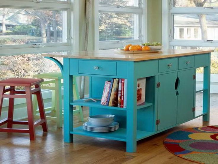 Counter Height Kitchen Tables with Storage With Ocean BLue Colour