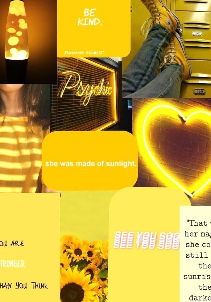 Aesthetic Yellow Wallpaper Quotes Sunshine Pinterest Phone Iphone Ipad Desktop C Wallpapers In 2020 Yellow Wallpaper Yellow Aesthetic Disney Phone Wallpaper