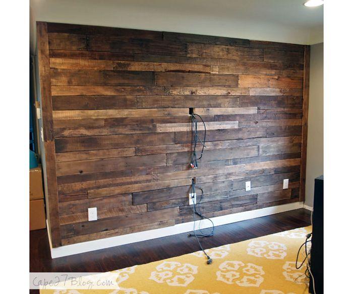 Акцентная деревянная стена своими руками: мастер-класс – Своими руками