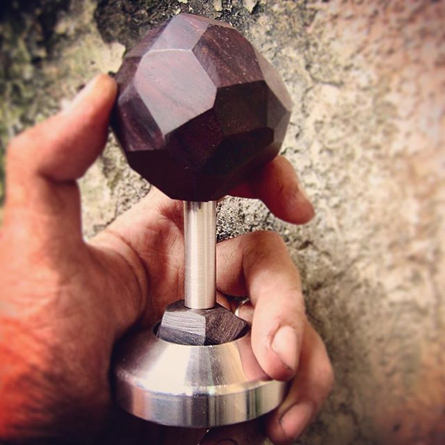 Reclaim antique rosewood furniture part with stainless steel 316L base.Handmade and original design by Zack_Atelier One of the 80 different coffee tamper design in my exhibition #coffee #tamper #antique #rosewood #stainless#steel #handmade #art #design #details @secawannsuch @zack_atelier #insta_penang #penang #penangcaffe #latteart #latte#srartwork #discover #coffeeart #connect #promote #talnts #repost#Art_Spotlight #coffeelover #coffeegram #coffee_inst