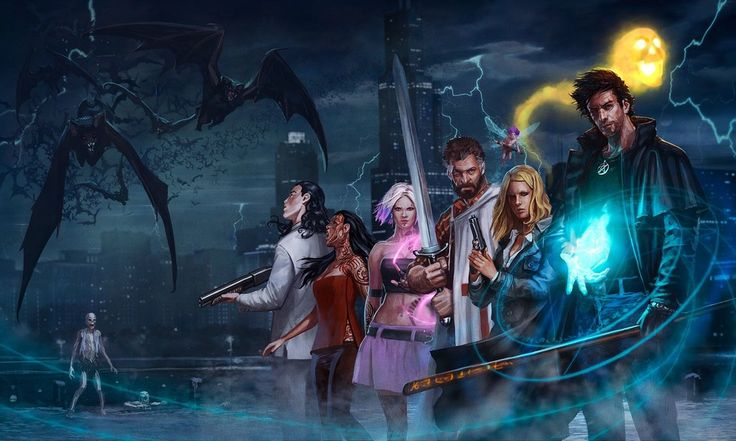 The Best Illustration Ever by Javier Charro (German Version of Dresden Files RPG) : dresdenfiles