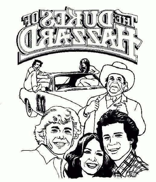 The Dukes Of Hazzerd Coloring Pages - Worksheet & Coloring Pages