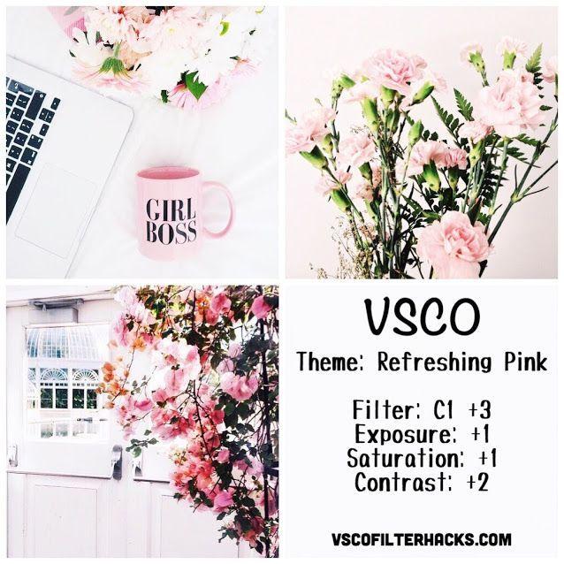 Refreshing Pink Instagram Feed Using VSCO Filter C1