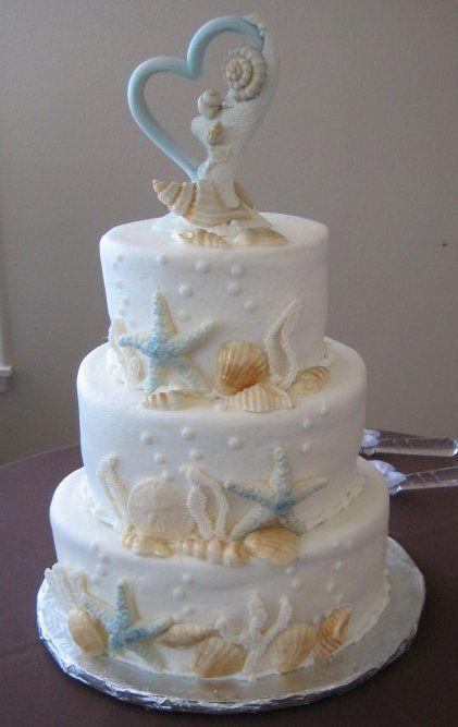 25 Best Ideas About Seashell Wedding Cakes On Pinterest