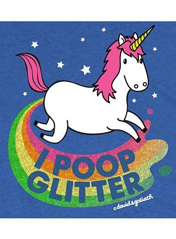 Unicorns Poop Glitter Tee Dress Up Pinterest Glitter