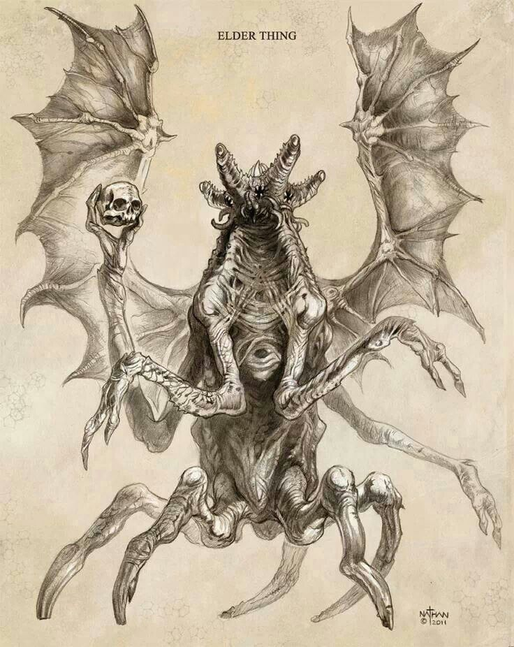 Elder thing at Mountains of madness: Lovecraft Concept Art, Nathanrosario Deviantart Com, Cthulhu