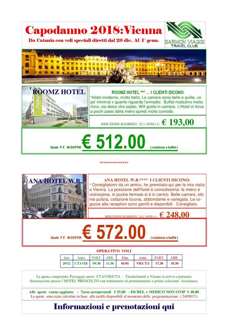 Vienna Capodanno 2018 con volo da Catania + Roomz Hotel – Garmon Viaggi Tour Operator