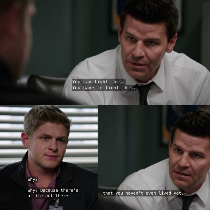 Booth's talk to Wendell when he found out he had bone cancer. Bones season 9