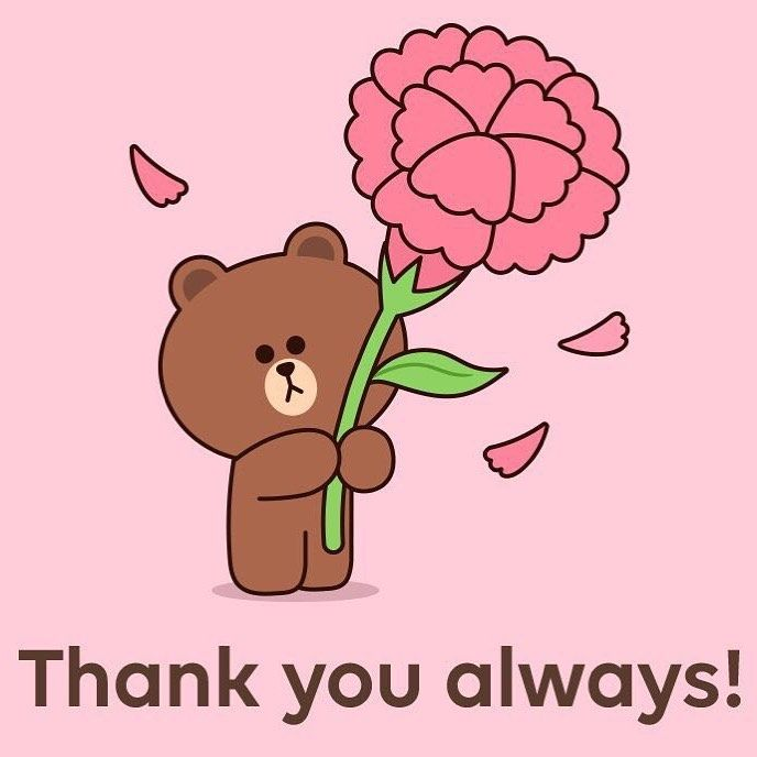 Pin By Fion On Thank You Stickers Gifs Line Friends Emoji Love Mother S Day Lines