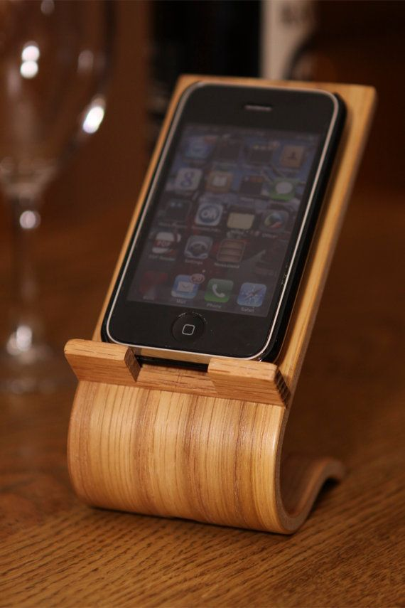 #Gift idea for him - Smartphone Desk Stand by @Terryswoodwowrking on @Etsy