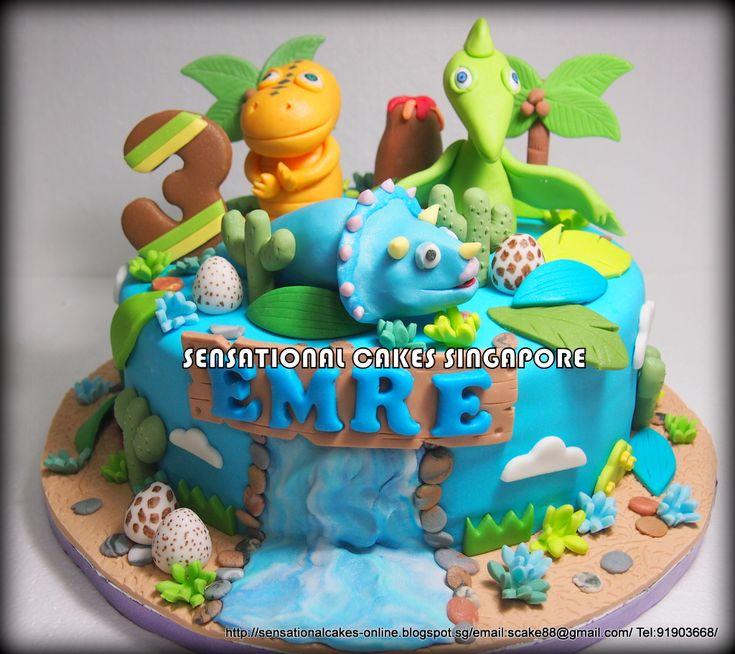 dinosaur cake | DINOSAUR TRAIN CAKE SINGAPORE /NEW BLUE DINO CHARACTER FIGURINES