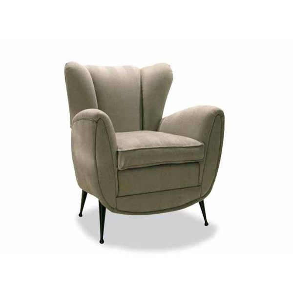 Dom Edizioni Armchair Lisa fabric Small armchair with not removable cover