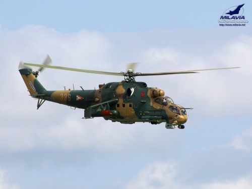 Hungarian Air Force Mi-24P Hind at the Belgian Helidays 2007, Bierset, Belgium.