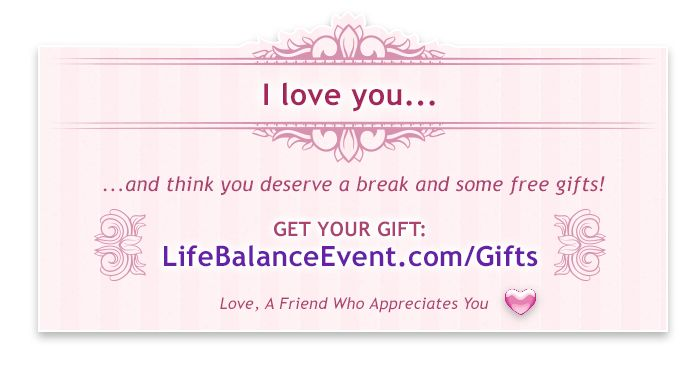 Give the gift of #balance and love http://www.lifebalanceevent.com/gifts