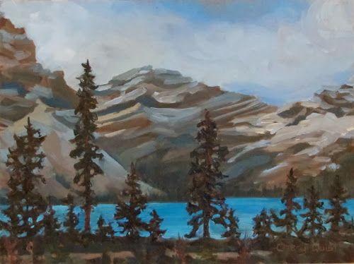 """Bow Lake Beauty (9""""x12"""")"""