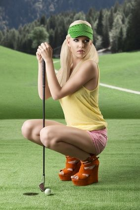 Everyone wants to play sexy golf...maybe she will play with you? better get the right training! #sexygolf #golf #playbettergolf